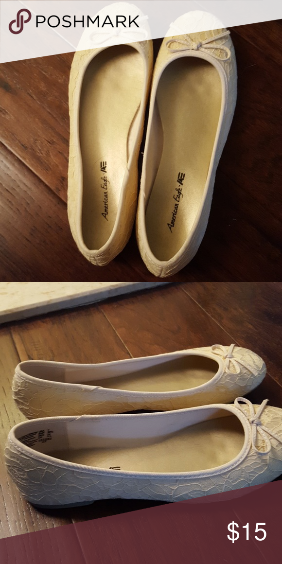 fdda08306 Beige American Eagle flats Size 7 American Eagle beige/cream colored ballet  flats. Worn only once, they are in great condition.