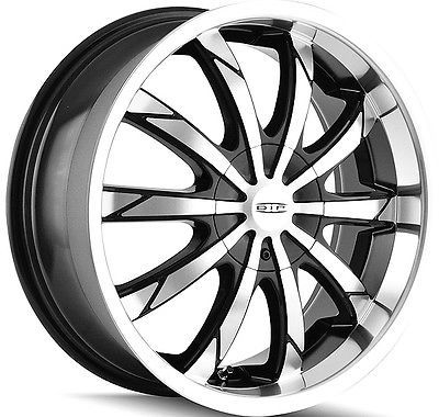 4 New Dip D66 Slack 18x7 5 5x1005x114 3 40mm Blackmachined Wheels