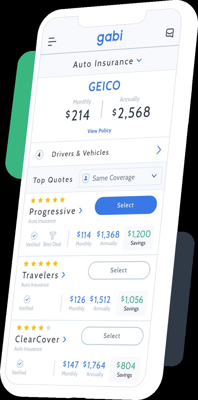 Screenshot Of Gabi App In Iphone Car Insurance Insurance Quotes