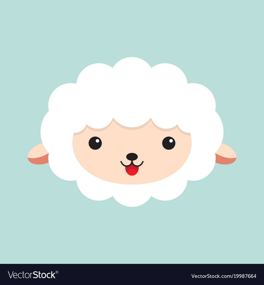 Cute Cartoon Sheep Head Of A Sheep Vector Illustration Download A Free Preview Or High Quality Adobe Illustrator Ai Sheep Vector Sheep Cartoon Deer Artwork