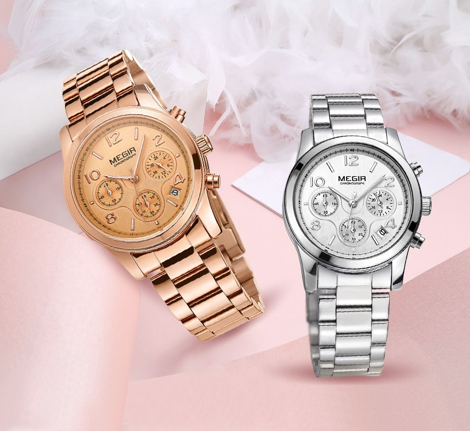 MEGIR lujo cuarzo relojes mujer Reloj Femenino moda señoras del deporte  amantes reloj de marca cronógrafo reloj 2057 envíos gratuitos en todo el  mundo. 0a24d64242cf