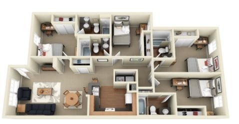 4 Rooms Idea Sims Freeplay House Ideas Pinterest House
