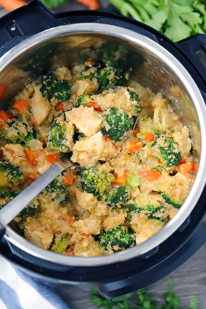 Instant Pot Chicken Broccoli And Quinoa With Cheese Recipe Instant Pot Dinner Recipes Chicken Recipes Food Recipes