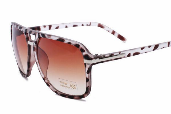 Classic Square Aviators Sunglasses Mens / Womens Vintage Double Bridge Plastic Tortoise Brown Frame