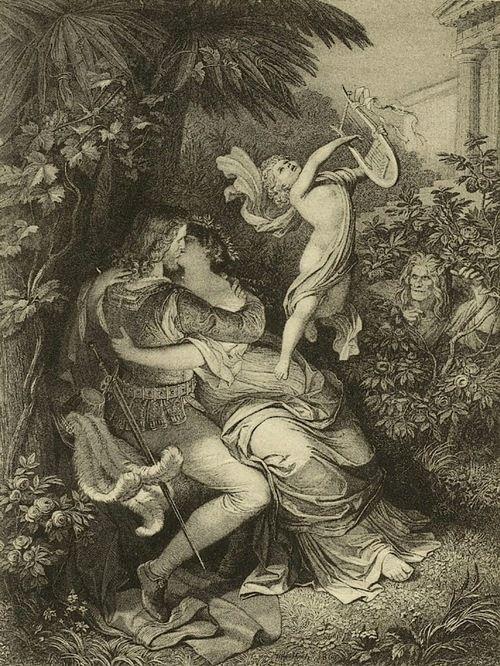 Wilhelm von Kaulbach, 'Faust And Helen' Faust: The First Part of the Tragedy [Faust. Der Tragödie erster Teil]; Johann Wolfgang von Goethe, c.1859.