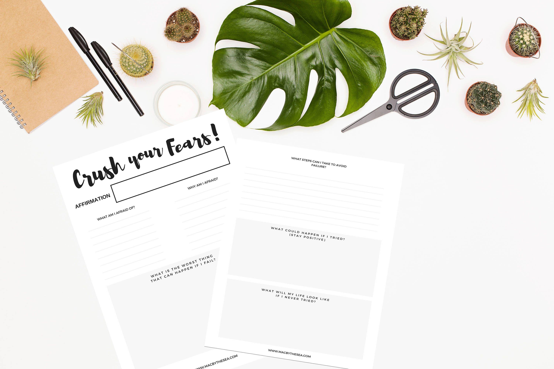 Goal Worksheet Define Your Fears Worksheet Goal Planner