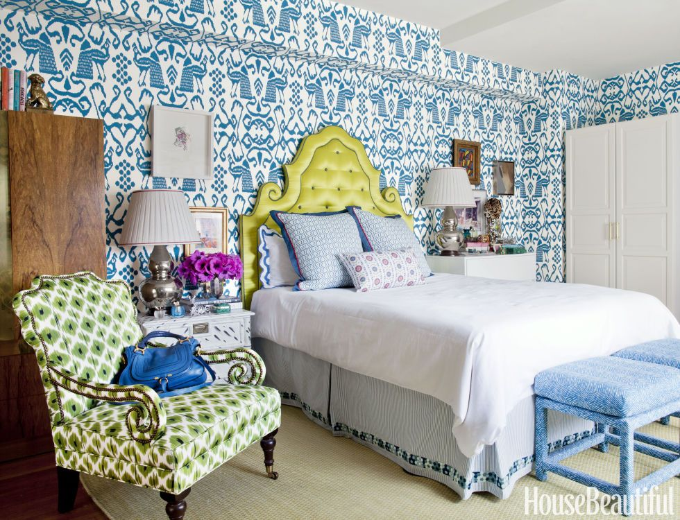 Harper piles on patterns in the bedroom