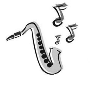 "jazz age clip art ""sax"""