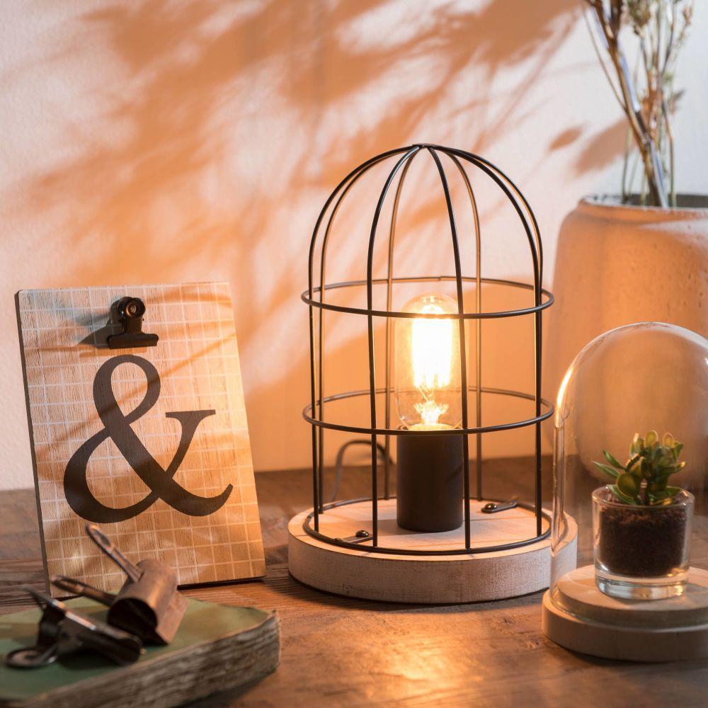 lampes poser d co maison du monde m tal noir et maison. Black Bedroom Furniture Sets. Home Design Ideas
