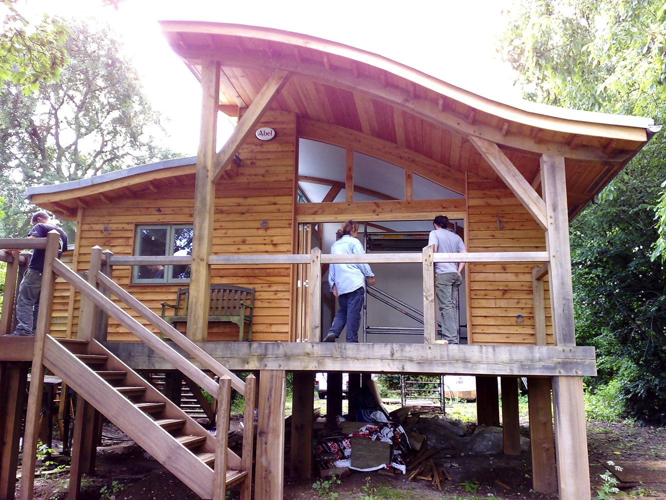 Eco House Built On A Floodplain Using Stilts Oak Frame