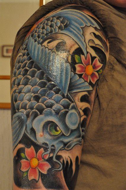 koi+fish+tattos | blue koi fish tattoo | Flickr - Photo Sharing!