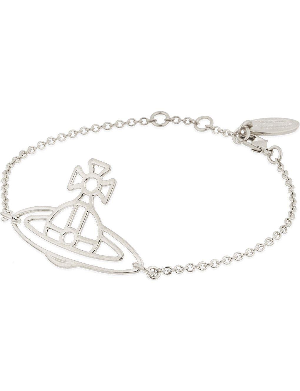 434383a92 VIVIENNE WESTWOOD JEWELRY - Thin Lines flat orb bracelet | Selfridges.com