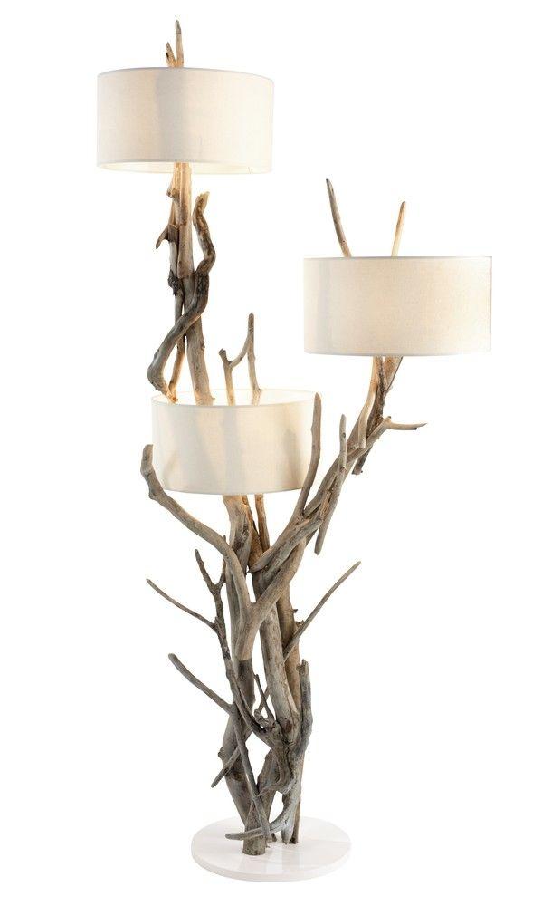 Qaanaaq driftwood floor lamp lighting by jalan jalan collection qaanaaq driftwood floor lamp mozeypictures Images
