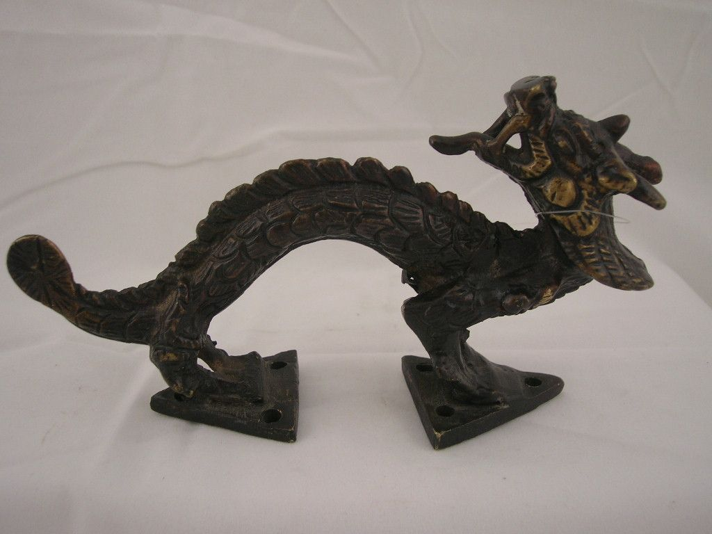 Dragon door pull.  Hand crafted bronze.  From the old HImalayan Kingdom of Patan