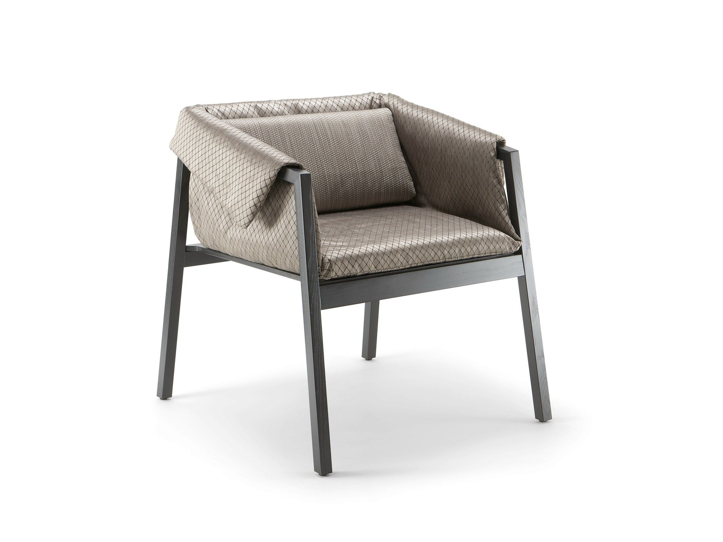 Cizeta Sedie ~ Wooden easy chair with armrests pad premium collection by cizeta
