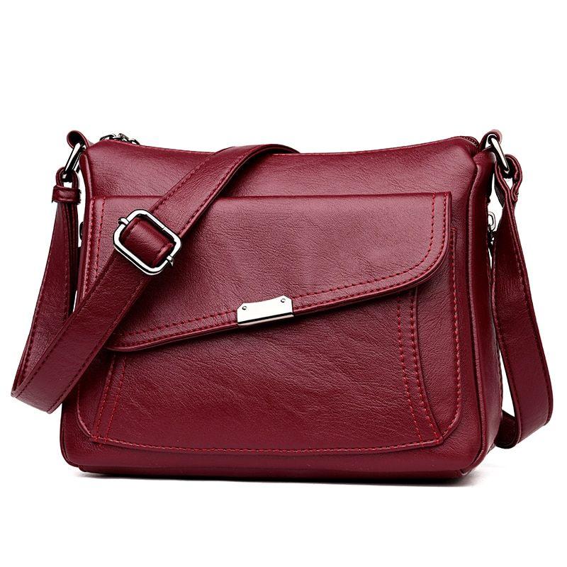 d34bb817992 2018 Female Flap Soft Genuine Leather Luxury handbags Women bags ...