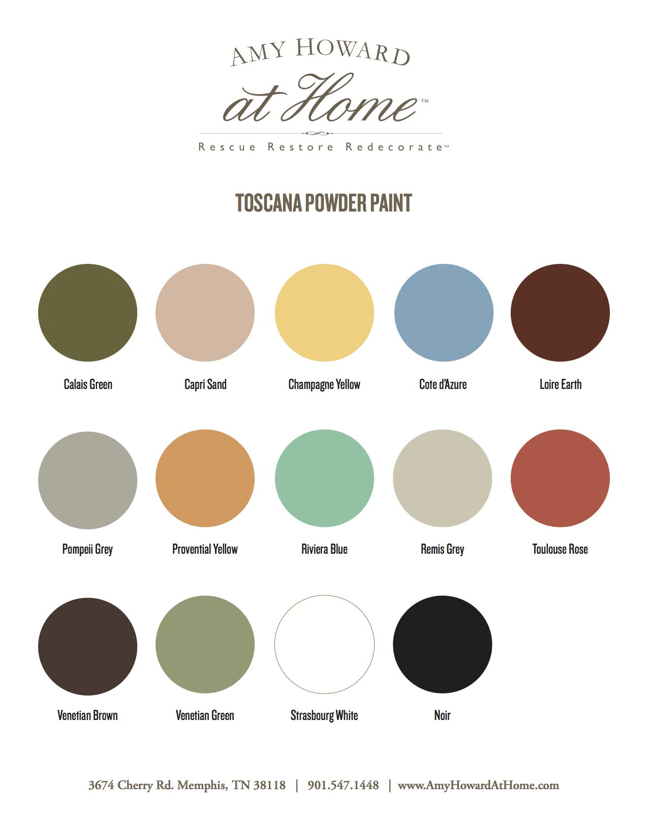 Toscana Powder Paint Amy Howard Amy Howard Paint Paint Color Chart