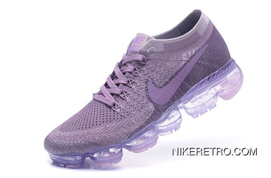 f2c32cd4dc1 Nike Air VaporMax Flyknit 2018 Atmospheric Flyknit Mesh Pad Jogging Shoes  Purple New Release