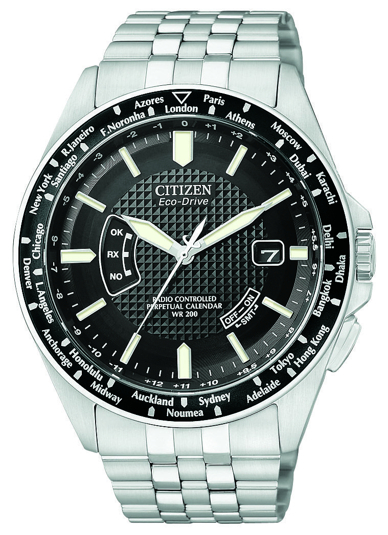Citizen Eco Drive Radio Controlled Og World Timer With Synchronized Time Adjustment Available In