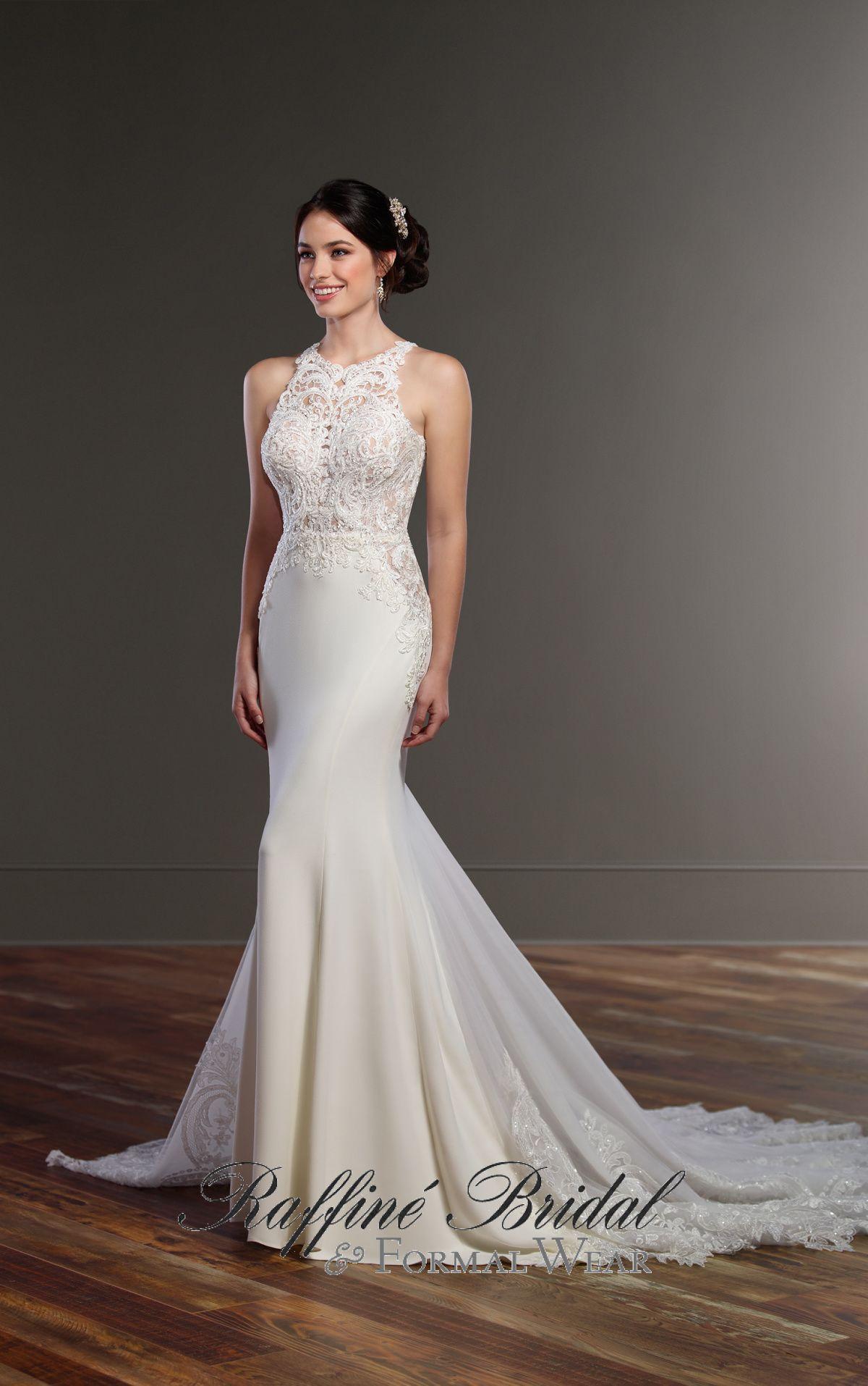 Martina liana this illusion racerback wedding dress from