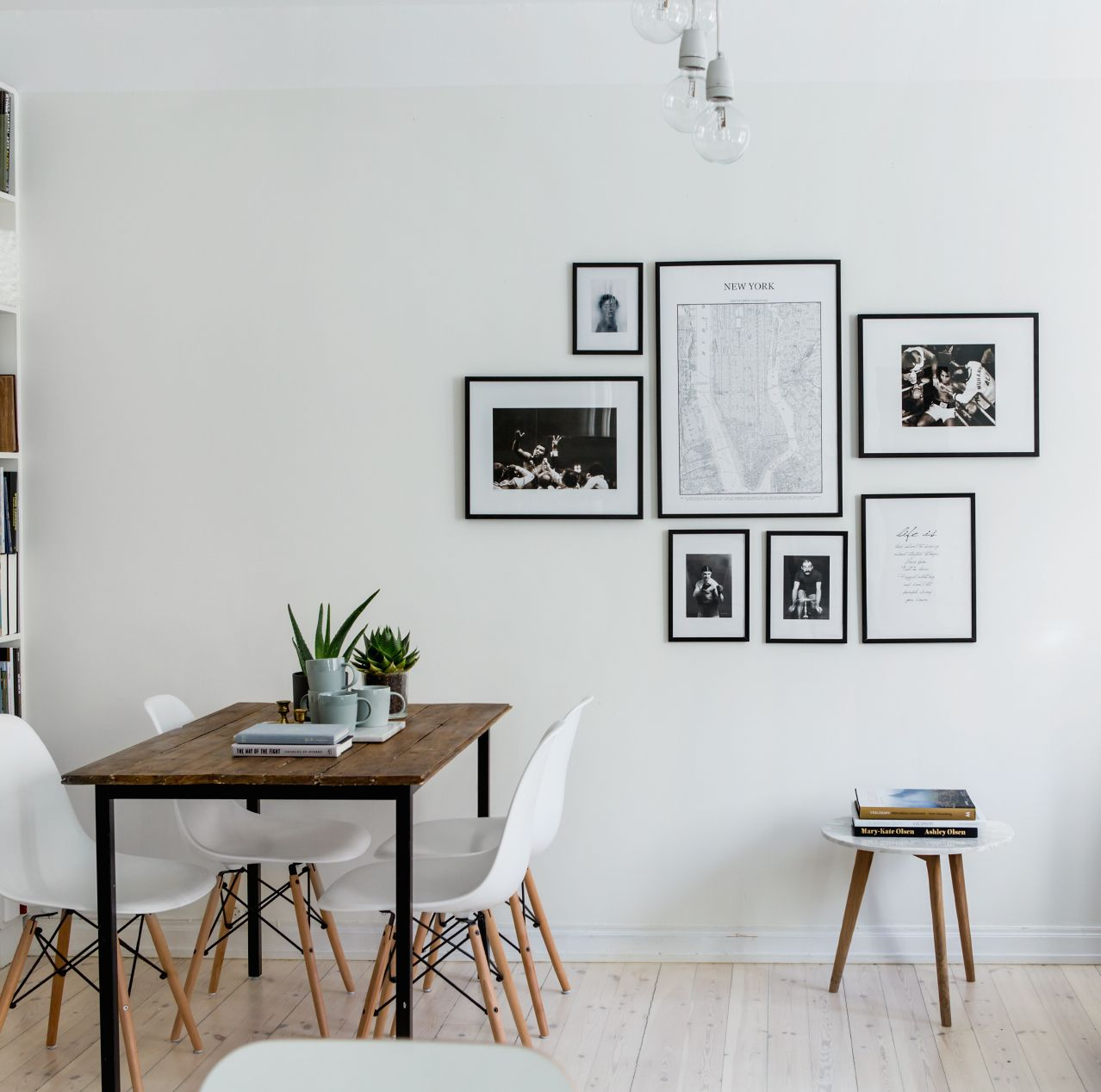 Inside a gorgeous gray stockholm apartment todo bonito for Bilderwand ikea