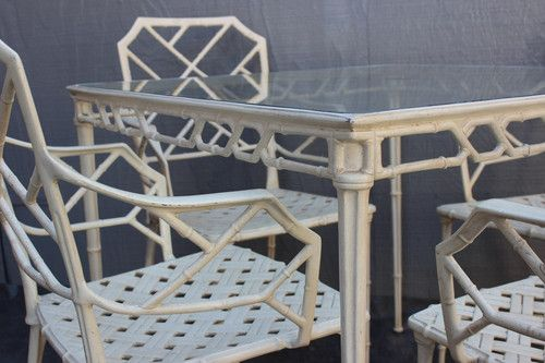 Hollywood Regency Patio Furniture by Brown Jordan Vintage Bamboo