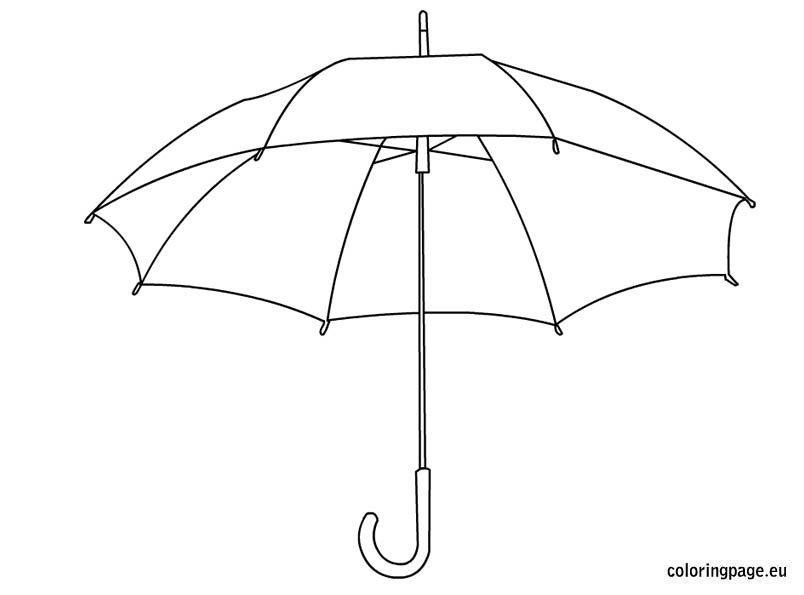Beautiful Umbrella Coloring Pages Kids Coloring Pages