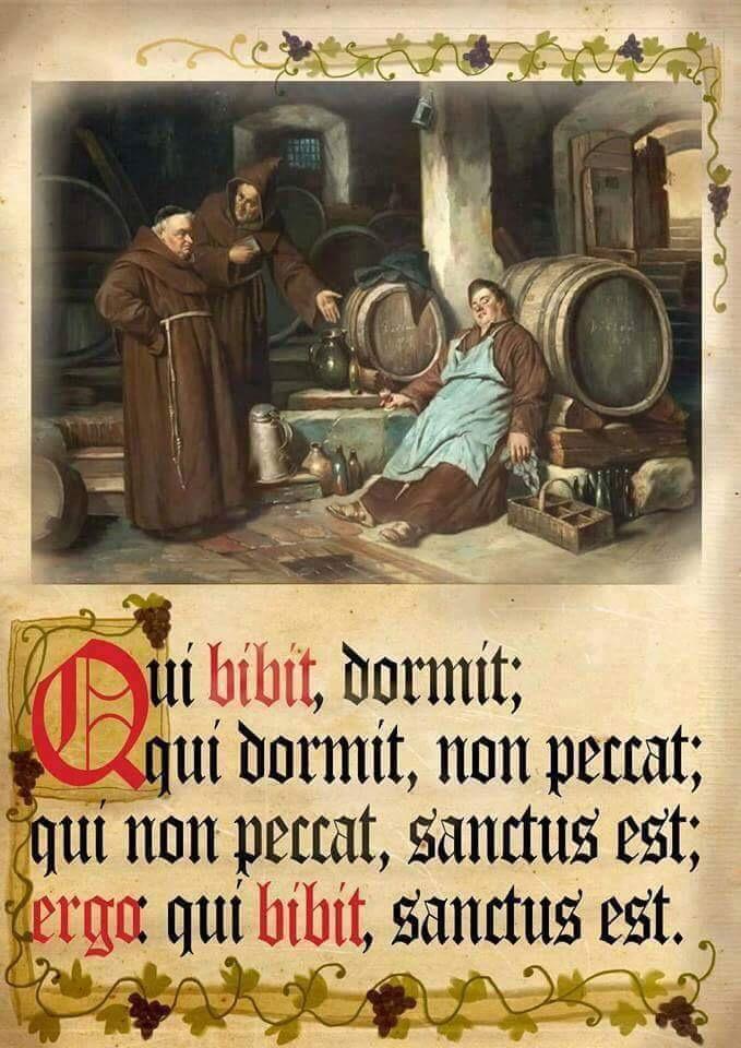 Qui Bibit Sanctus Est Latein Lateinische Zitate Bildung
