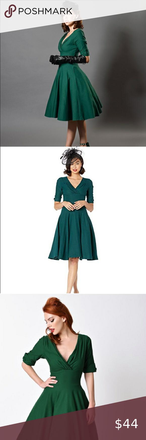 Unique Vintage Emerald Green Delores Swing Dress Swing Dress Colorful Dresses Unique Vintage Dresses [ 1740 x 580 Pixel ]