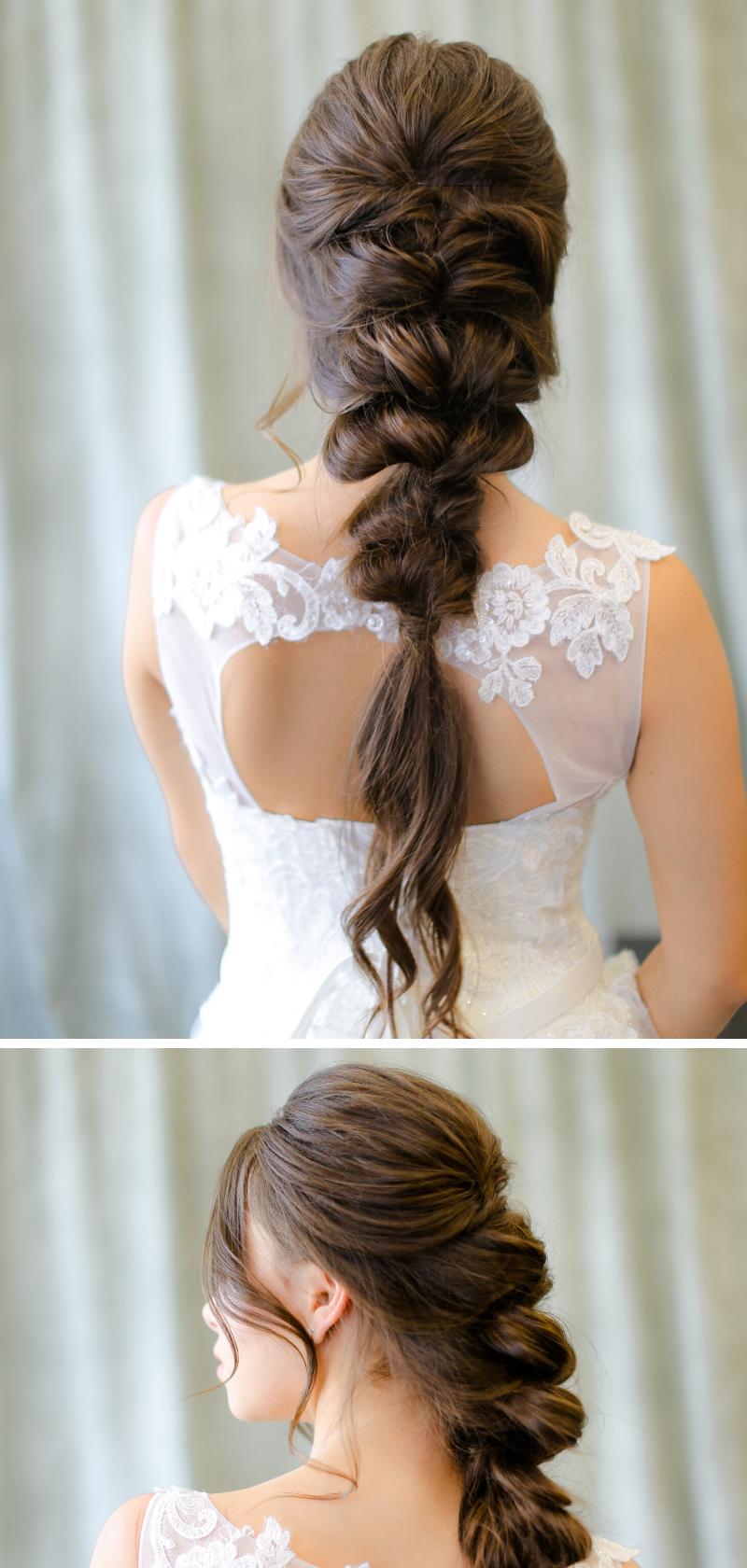 30 Stilvolle Ideen Fur Eine Brautfrisur Mit Zopf Hochzeitskiste Brautfrisur Hochzeitsfrisuren Zopfe