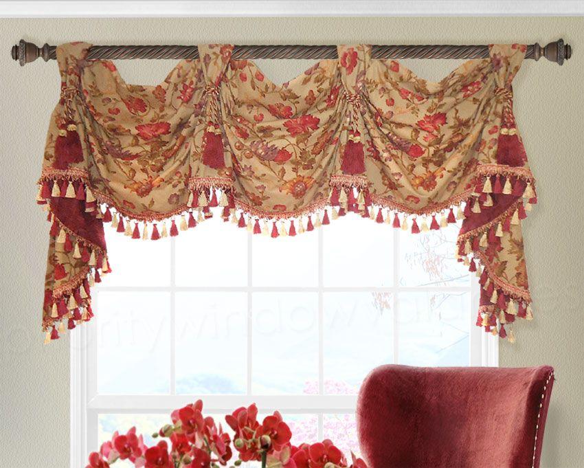 Victory Swag Valance Cortinas, Cortinas modernas y Moderno - cortinas para ventanas