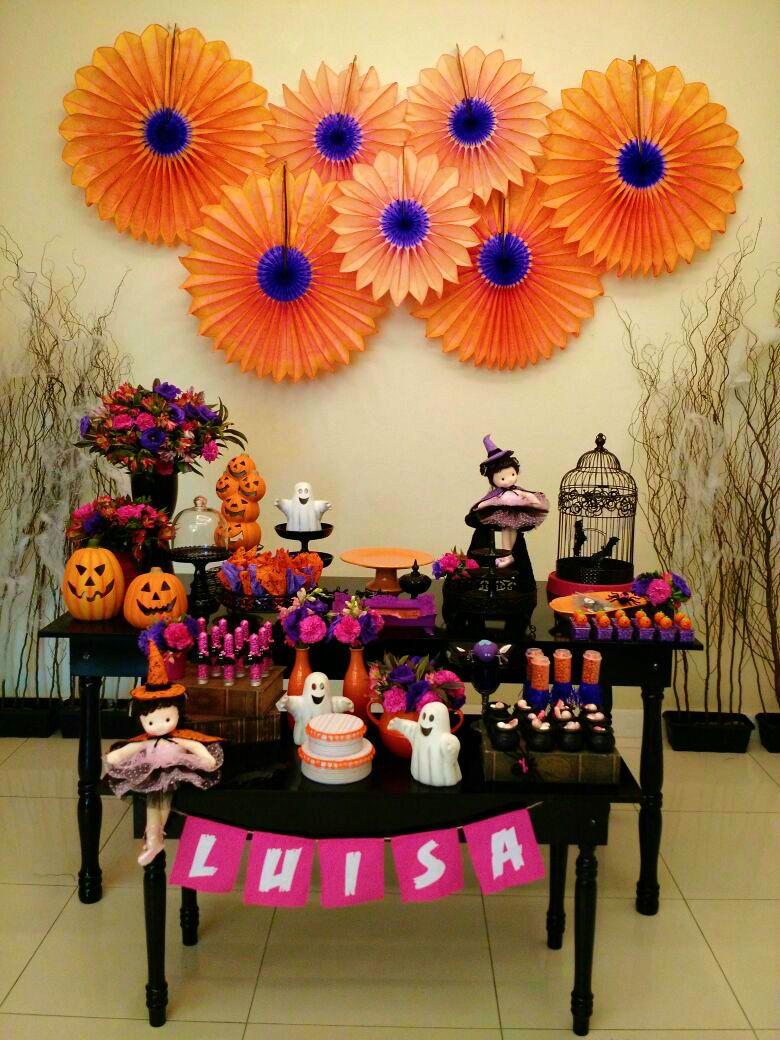 Hoje voc u00ea vai conhecer a Luisa, que escolheu o tema Halloween para a sua festa de 4 aninhos! E o  -> Decoração De Festa De Aniversario Halloween