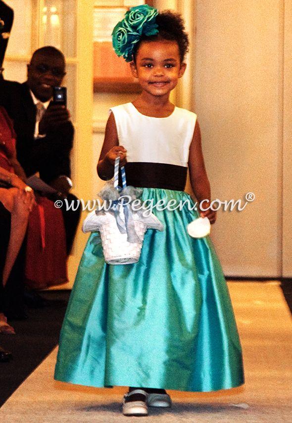 Flower girl dresses in tiffany blue | Aqua Flower Girl Dresses ...