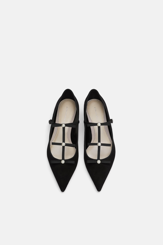 895faea67a495 Shoes Bailarina Perlas Lazo De Imagen Pinterest Zara 1 4w6vqP