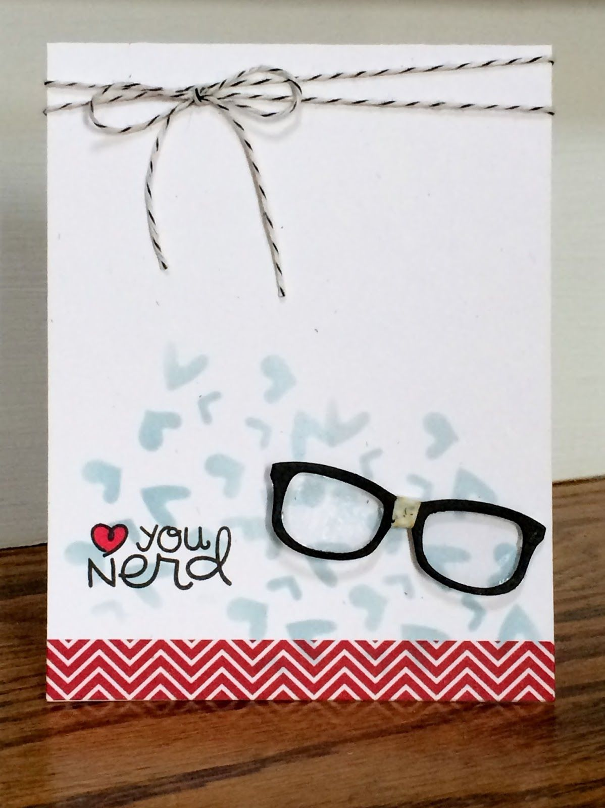 Card By Ps Gdt Mandy Using Ps Incognito Tiny Hearts Dies Glasses Dies Paper Smooches Penny Black Cards Homemade Birthday Cards