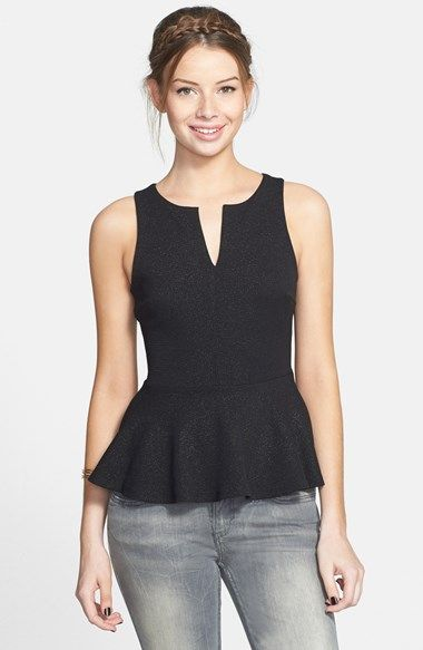 Soprano Quilted Peplum Tank (Juniors) available at #Nordstrom