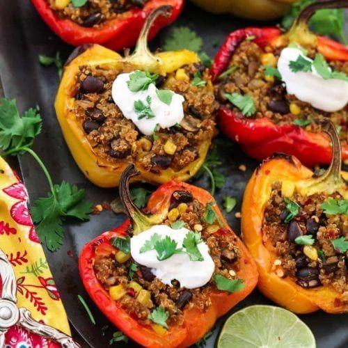 Santa Fe Quinoa Gefüllte Paprikaschoten (Vegan + GF) -