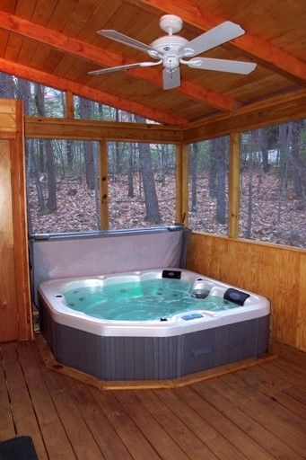 Hot Tub On Screened In Porch Indoor Hot Tub Hot Tub Room Hot Tub Outdoor