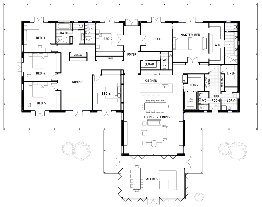 If youre after a big home with 6 bedrooms i found this one for you click on the image to view it larger if you look through all the details you can