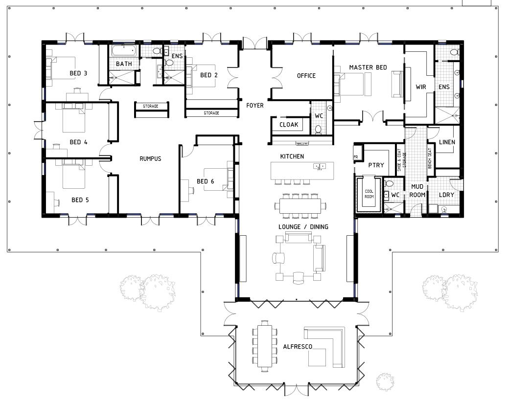 10 Amazing Barndominium Floor Plans For Your Best Home 6 Bedroom