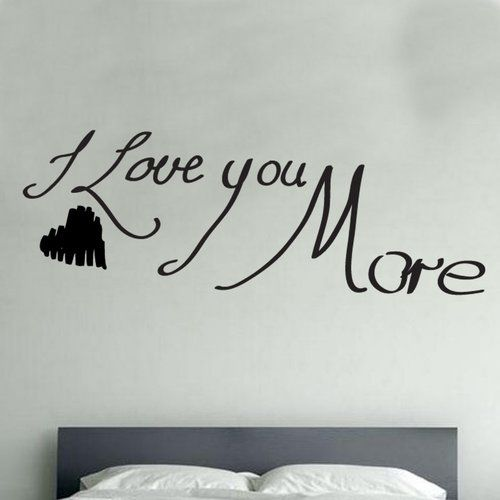 East Urban Home I Love You More Heart Decal Vinyl Wall Sticker Vinyl Wall Stickers Wall Stickers Mirror Wall Stickers