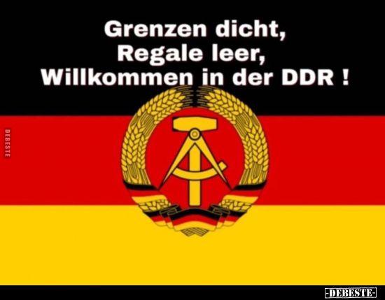 Photo of Grenzen eng, Regale leer, willkommen in der DDR! ..