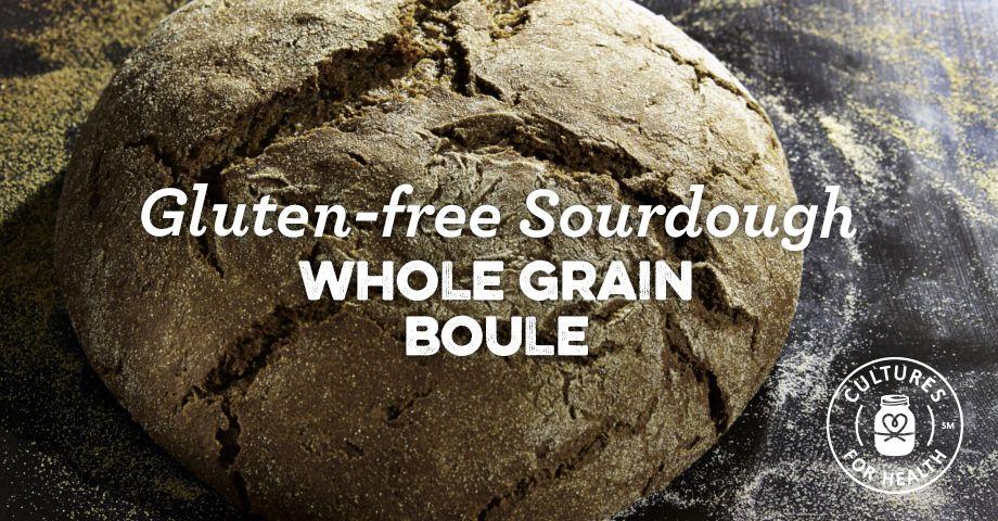 Gluten-Free Sourdough Whole Grain Boule