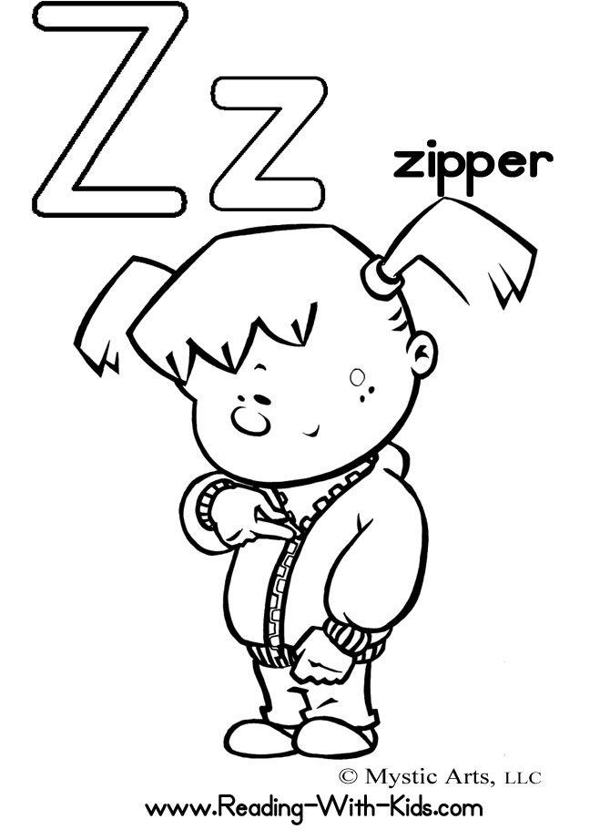 Alphabet Letter Z Coloring Page Zipper Jpg 670 922 Alphabet Coloring Pages Abc Coloring Pages Letter People