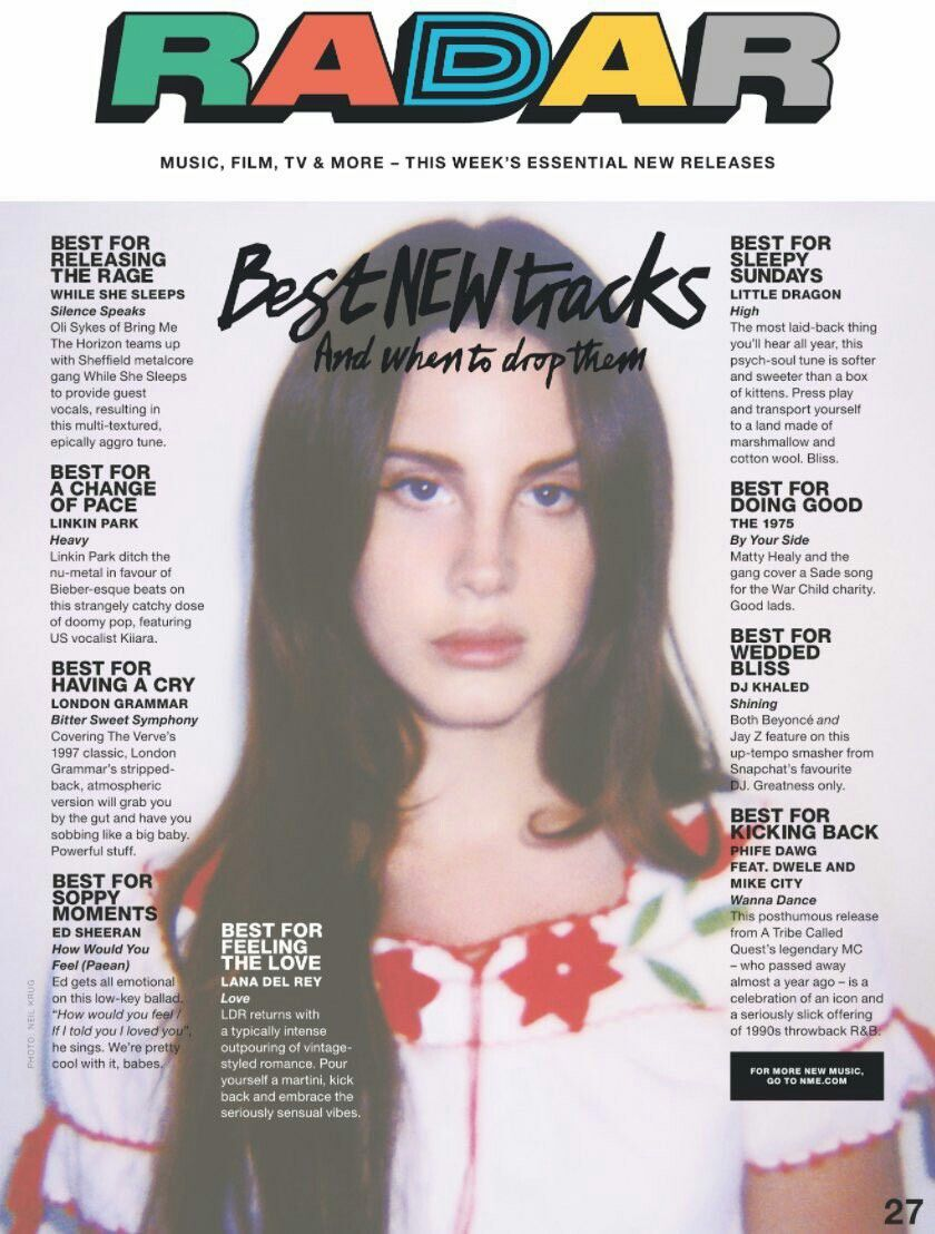 Lana Del Rey featured on NME Magazine\'s best new tracks page #LDR ...