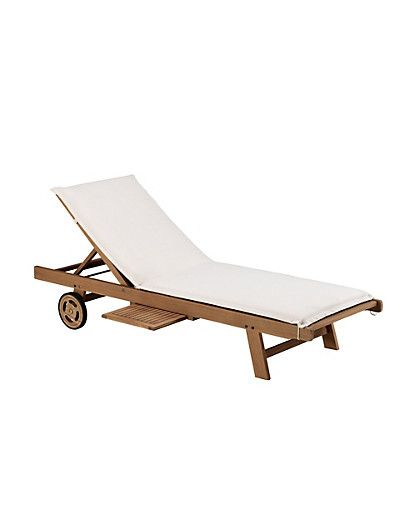 Marks and Spencer - Nordina Sun Lounger with Cream Cushion Furniture ...