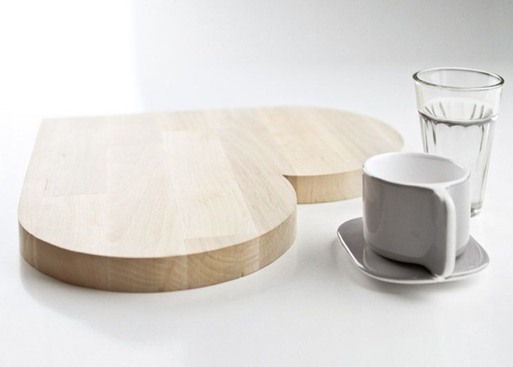 Design Fürs Heim | Love Heart Birch Cutting Board | Est Magazine