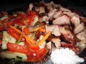 Nyama Choma Kitimoto na Kachumbari - Grilled Pork and Salad