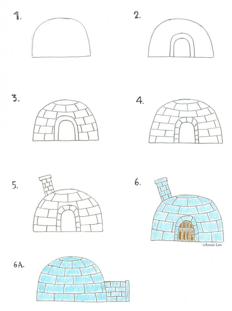 How to draw a igloo by anais lee lunchtime drawing how to draw a igloo by anais lee pooptronica