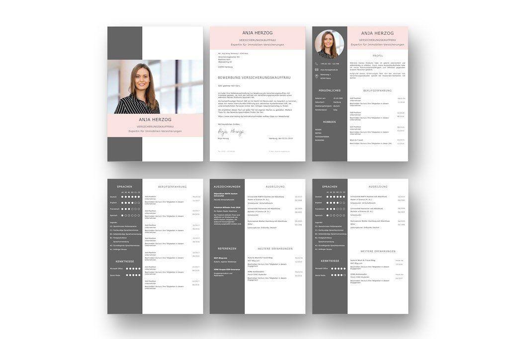 Bewerbungsvorlage Premium Xl Rose Fur Viel Berufserfahrung Download Lebenslauf Berufserfahrung Cv Lebenslauf